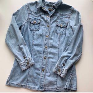 Anthropologie Fei Denim shirt, size XS
